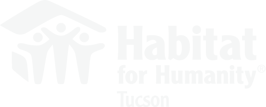 Habitat for Humanity working locally, in Tucson, Arizona.