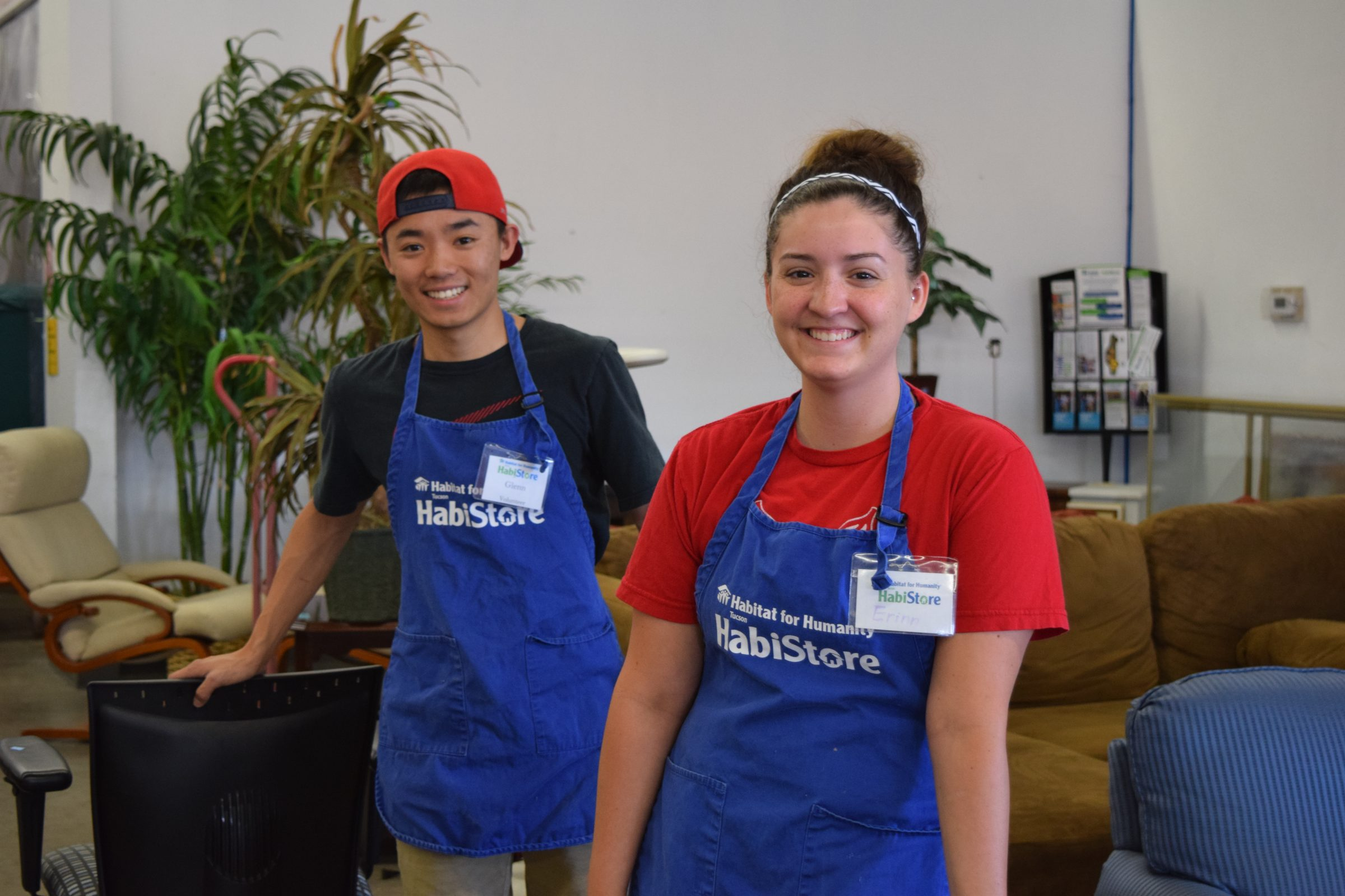 Volunteers at the Tucson HabiStore have fun while learning gaining valuable work experience