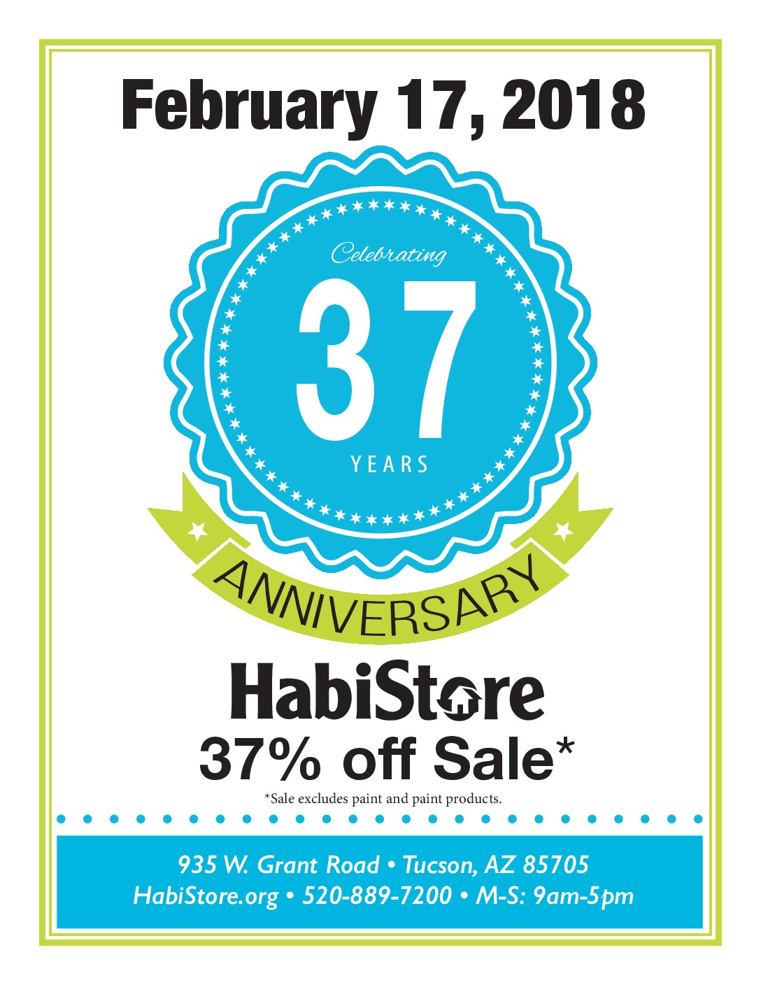 Celebrating years in tucson with an anniversary sale