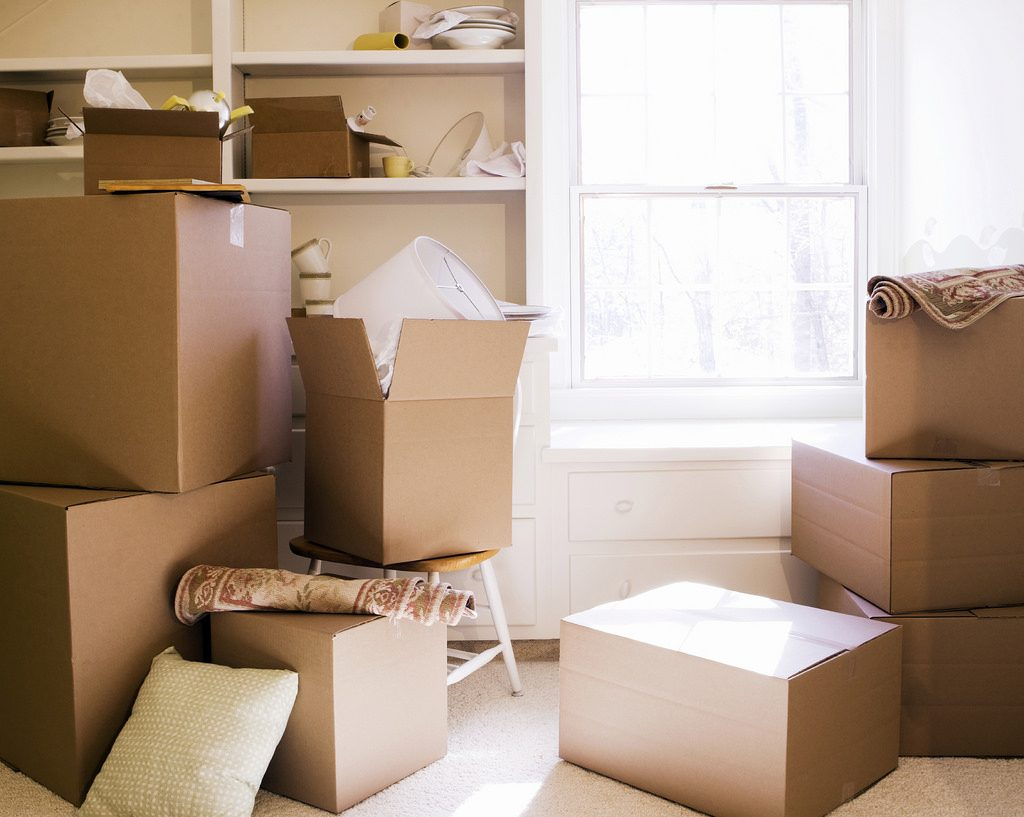 Moving boxes for senior downsizing