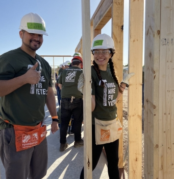 Before and After Habitat Tucson Helps Veterans
